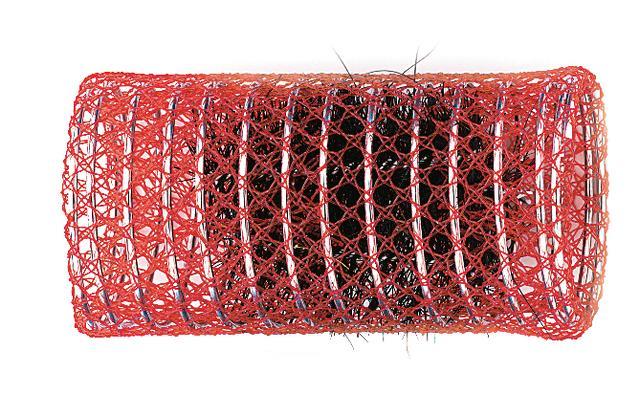 Spirálové natáčky na vlasy Sibel červené 12 ks - 40 mm (2210409)