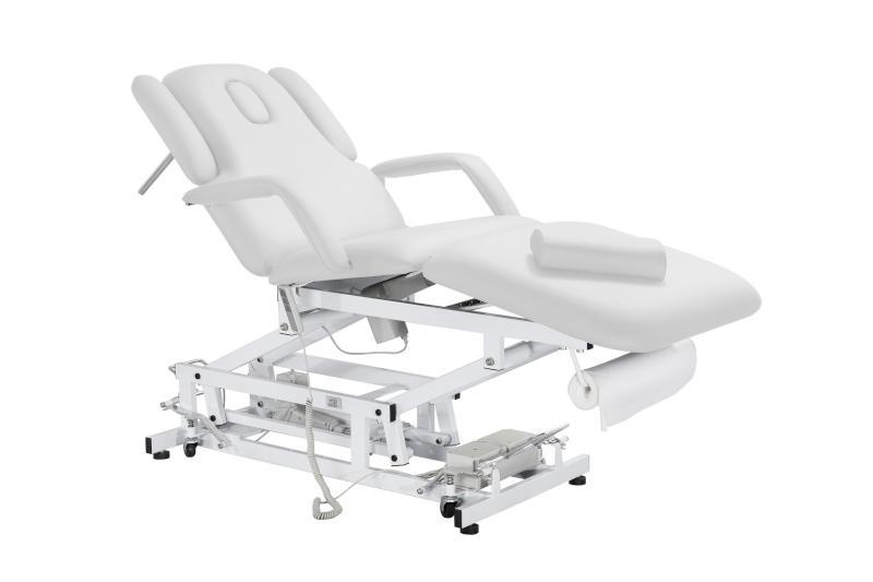 Elektrické masážní lehátko Weelko ACRUM - 3 motory, bílé (2234A) + DÁREK ZDARMA