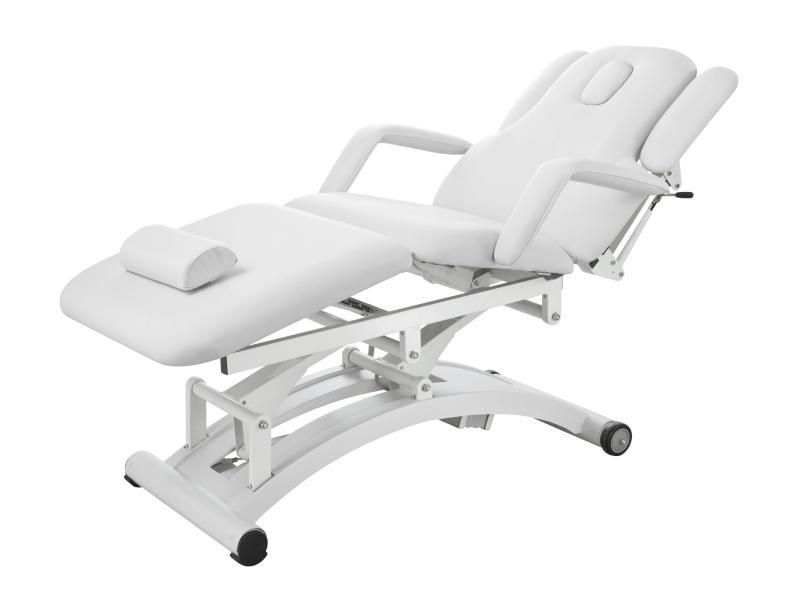 Elektrické masážní lehátko Weelko SPHEN - 3 motory, bílé (2241C) + DÁREK ZDARMA