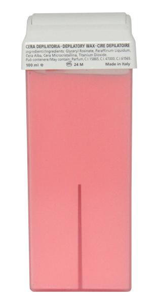 Epilační vosk roll-on s oxidem titaničitým Hairway, růžový - 100 ml (25106)