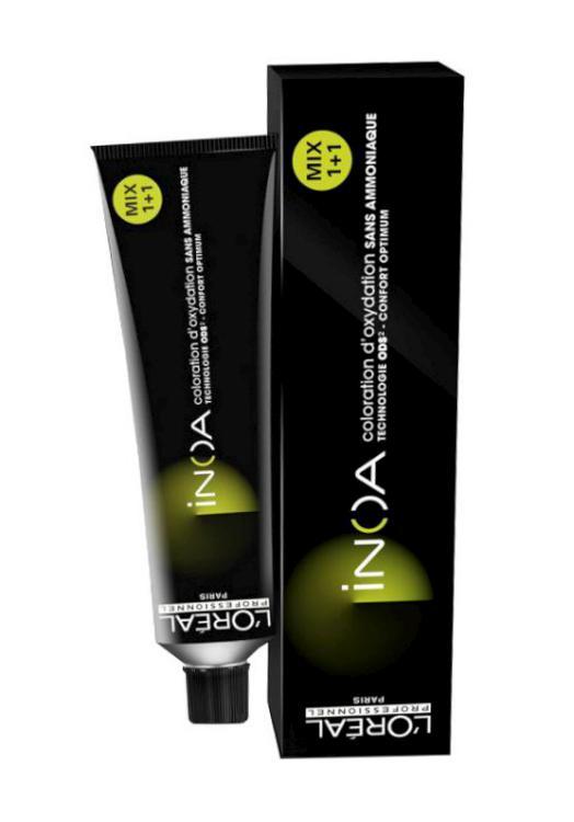 Loréal Inoa 2 barva na vlasy 60 g - odstín 2,10 hnědá nejtmavší popelavá intenzivní + DÁREK ZDARMA