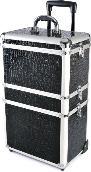 Sekční kufr na kolečkách Hairway - černý (28590) + DÁREK ZDARMA