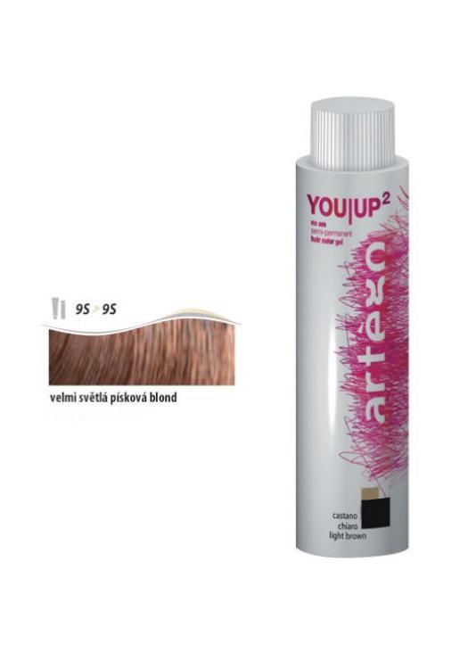 Artégo Gel tón v tónu YOU UP2 100ml - 9S, velmi světlá písková blond (166960) + DÁREK ZDARMA