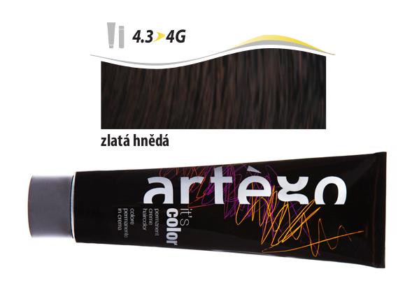 Artégo Krémová barva IT'S Color 150 ml - 4.3, zlatá hnědá (4.3>4G)