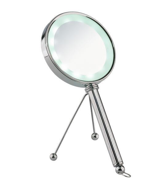 Kosmetické zrcátko s osvětlením Sibel Vaduz - 3x zvětšovací (4430401) + DÁREK ZDARMA