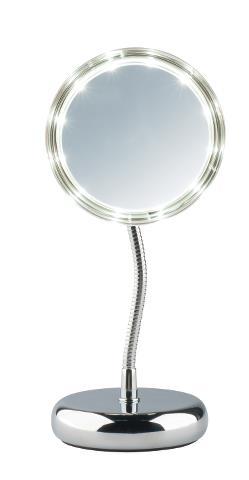 Kosmetické zrcátko s osvětlením Sibel Lisboa - 3x zvětšovací (4430402) + DÁREK ZDARMA