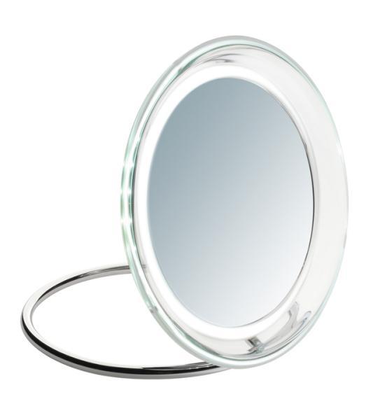 Kosmetické zrcátko s osvětlením Sibel Roma - 5x zvětšovací (4430403) + DÁREK ZDARMA