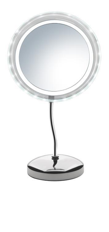 Kosmetické zrcátko s osvětlením Sibel Stockholm round - 5x zvětšovací (4430404) + DÁREK ZDARMA