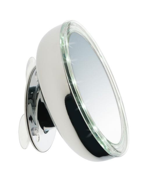 Kosmetické zrcátko s osvětlením Sibel Oslo - 3x zvětšovací (4430406) + DÁREK ZDARMA
