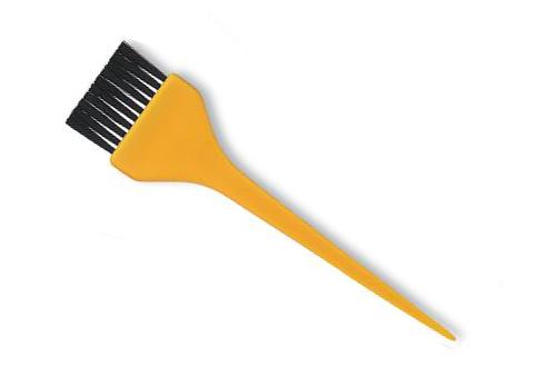 Štětec na barvení vlasů Sibel 4470200 - 4,5 cm, žlutá (4470200 - yellow)
