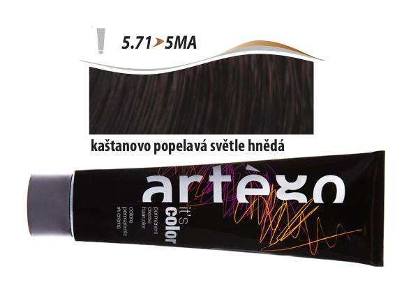 Artégo Krémová barva IT'S Color 150 ml - 5.71, kaštanovo popelavá světle hnědá (5.71>5MA)