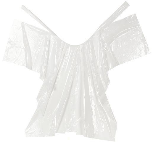 Jednorázová bílá pláštěnka Sibel, 30 ks (5003132)