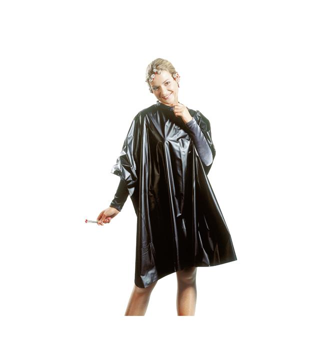 Kadeřnická pláštěnka na barvení vlasů Vera Plastic Sibel - černá (501033202)