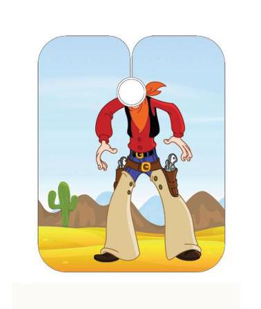Dětská kadeřnická pláštěnka Sibel - Cowboy (5091402) + DÁREK ZDARMA