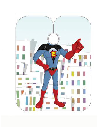 Dětská kadeřnická pláštěnka Sibel - Space Heroes (5091403) + DÁREK ZDARMA