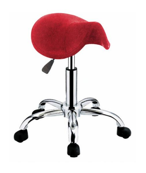Taburet na kolečkách Hairway Profi, červený (51890-YD27) + DÁREK ZDARMA