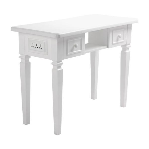 Manikúrní stolek Hairway styl baroko s prostorem pro UV-lampu - bílý (53407) + DÁREK ZDARMA