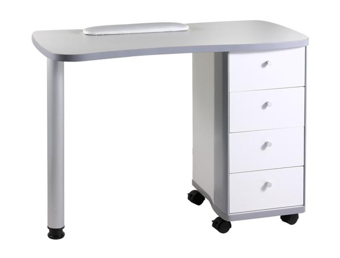 Manikúrní stolek s přídavným boxem Hairway, bílý (53414) + DÁREK ZDARMA