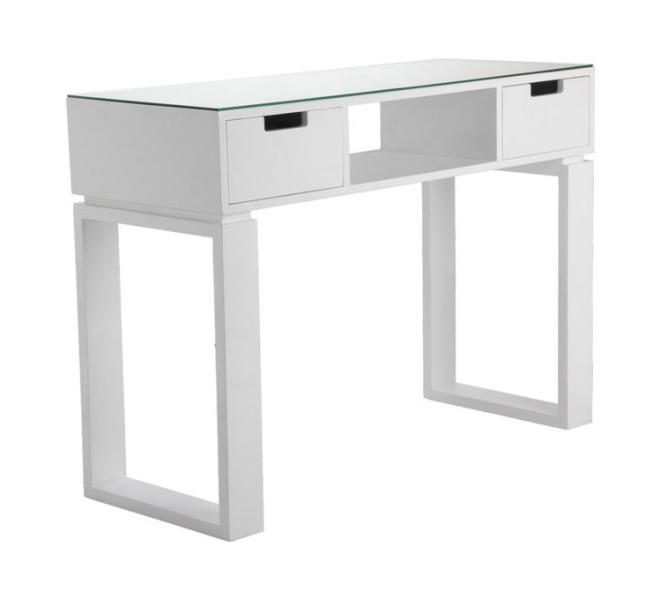 Manikúrní stolek Hairway s prostorem pro UV-lampu - bílý (53415) + DÁREK ZDARMA