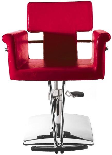 Kadeřnické křeslo Hairway NICOLE - červené (56077-YD30) + DÁREK ZDARMA
