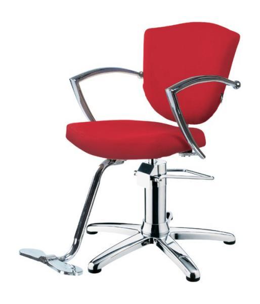 Kadeřnické křeslo s opěrkou na nohy Hairway ASTRA - červené (YD27) (56089-YD27) + DÁREK ZDARMA