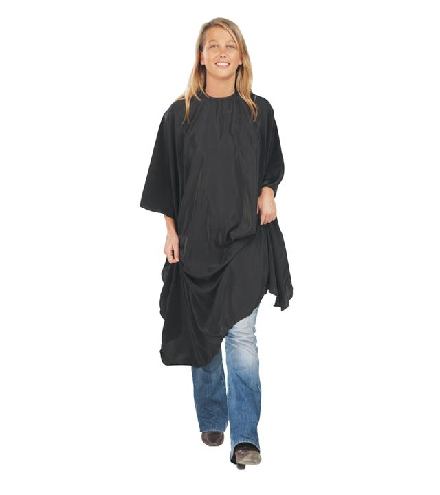 Kadeřnická pláštěnka na barvení vlasů Economyss 2 Sibel - černá (572000002) + DÁREK ZDARMA