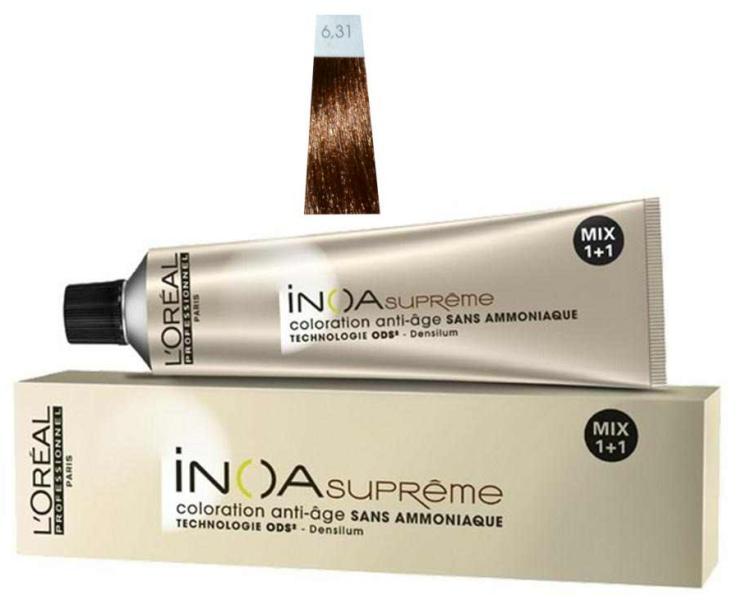 Loréal Inoa Supréme barva na vlasy 60g - odstín 6.31 amaretto + DÁREK ZDARMA