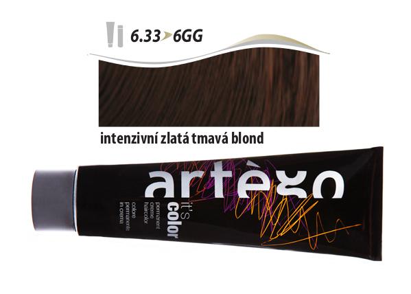 Artégo Krémová barva IT'S Color 150 ml - 6.33, intenzivní zlatá tmavá blond (6.33>6GG)