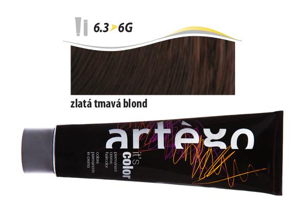 Artégo Krémová barva IT'S Color 150 ml - 6.3, zlatá tmavá blond (6.3>6G)