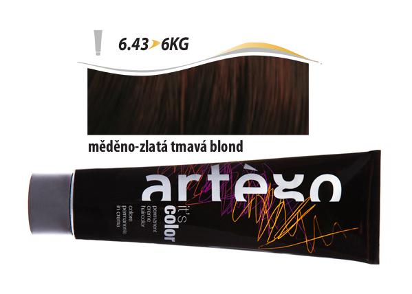 Artégo Krémová barva IT'S Color 150 ml - 6.43, měděno-zlatá tmavá blond (6.43>6KG)