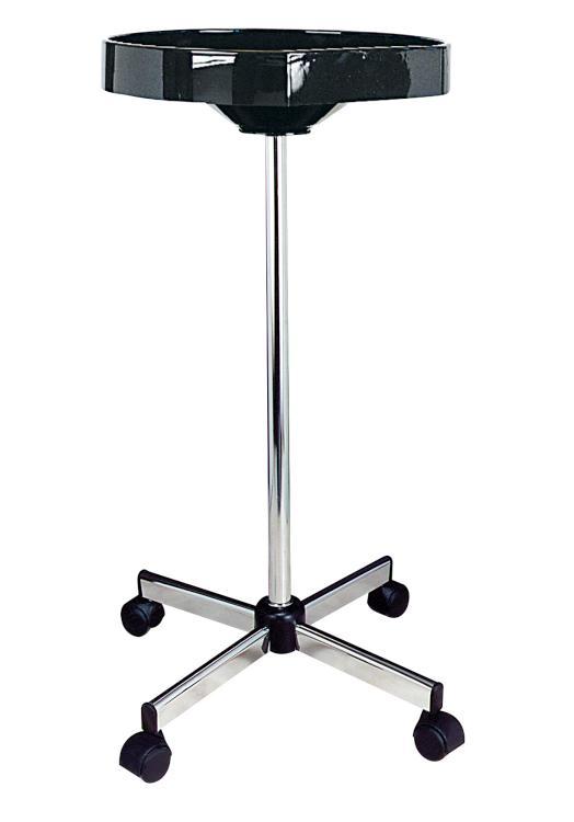 Kadeřnický odkládací stolek Sibel Eco Jolly - černý, kulatý (6001909) + DÁREK ZDARMA