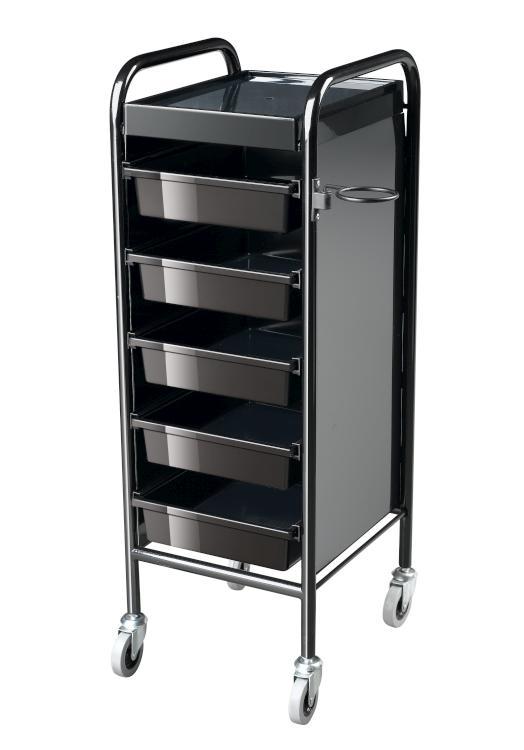 Kadeřnický vozík Sibel Columbia - černý (6002320) + DÁREK ZDARMA