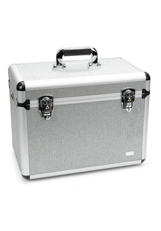 Kadeřnický a kosmetický kufřík Sibel Back Stage - stříbrný (6600458) + DÁREK ZDARMA