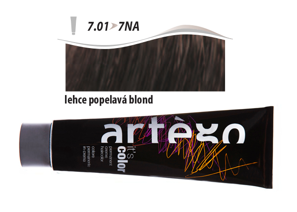 Artégo Krémová barva IT'S Color 150 ml - 7.01, lehce popelavá blond (7.01>7NA)