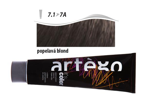 Artégo Krémová barva IT'S Color 150 ml - 7.1, popelavá blond (7.1>7A)