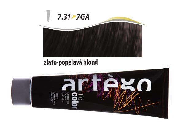 Artégo Krémová barva IT'S Color 150 ml - 7.31, zlato-popelavá blond (7.31>7GA)