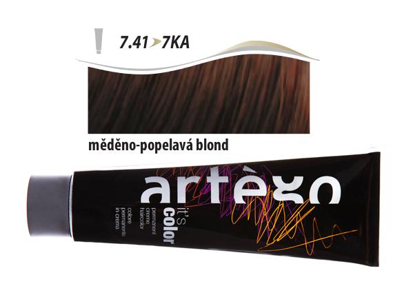Artégo Krémová barva IT'S Color 150 ml - 7.41, měděno-popelavá blond (7.41>7KA)