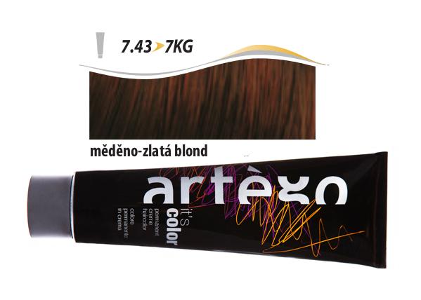Artégo Krémová barva IT'S Color 150 ml - 7.43, měděno-zlatá blond (7.43>7KG)