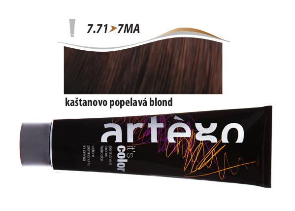 Artégo Krémová barva IT'S Color 150 ml - 7.71, kaštanovo popelavá blond (7.71>7MA)