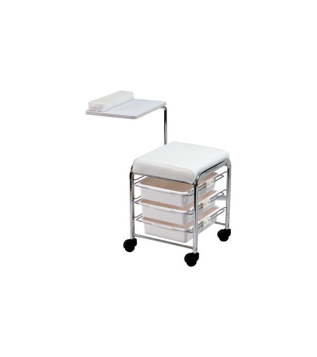 Multifunkční manikúrní stolek / vozík Sibel - bílý (7300732) + DÁREK ZDARMA