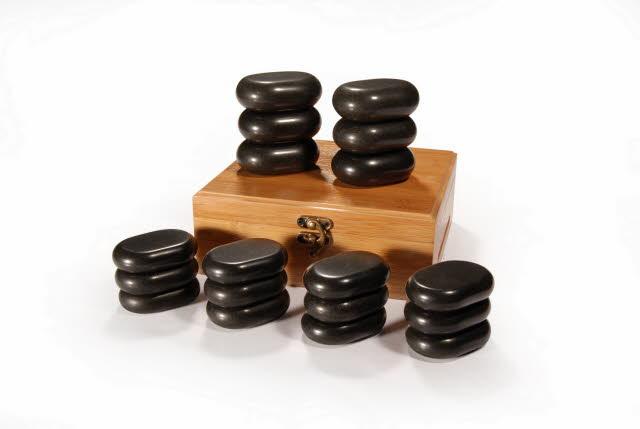 Sada masážních lávových kamenů Sibel - 18 kusů (7520009) + DÁREK ZDARMA