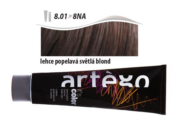 Artégo Krémová barva IT'S Color 150 ml - 8.01, lehce popelavá světlá blond (8.01>8NA)