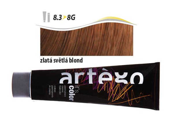 Artégo Krémová barva IT'S Color 150 ml - 8.3, zlatá světlá blond (0160083)