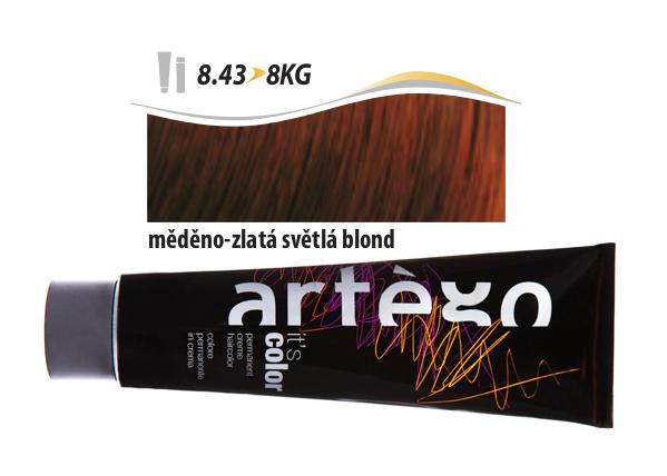 Artégo Krémová barva IT'S Color 150 ml - 8.43, měděno-zlatá světlá blond (8.43>8KG)