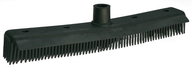 Antistatický smeták se škrabkou Sibel Rubber Broom - černý (8451961) + DÁREK ZDARMA
