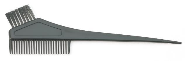 Štětec na barvení vlasů s hřebenem Sibel 8450121 - černý
