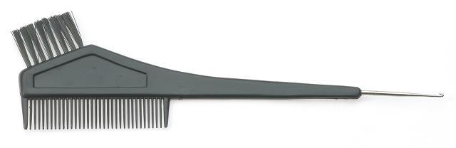 Štětec na barvení s hřebenem a kovovým hrotem Sibel - černý (8450151)