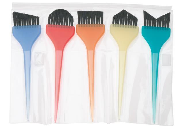 Sada profesionálních štětců na barvení Sibel - 5 ks (8450201)