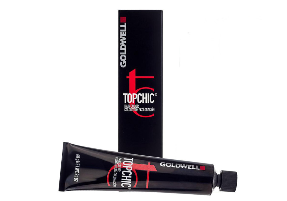 Barva na vlasy TopChic Goldwell 60 ml - odstín 6NA tmavá popelavá blond (201616)