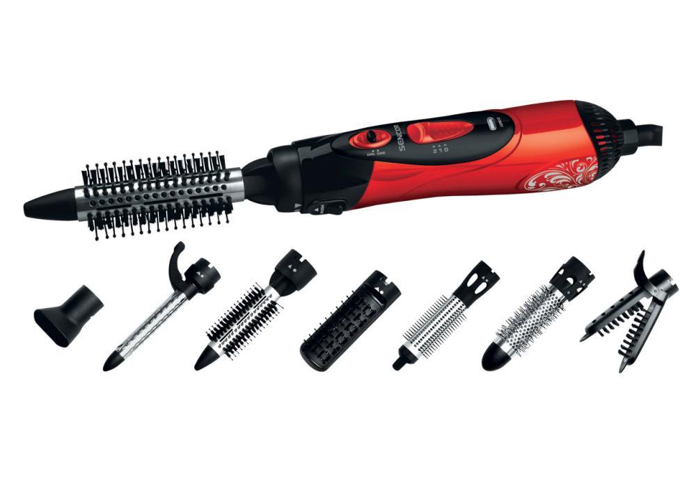 Horkovzdušná kulma na vlasy Sencor - červená, 1000 W (SHS 7551RD) + DÁREK ZDARMA